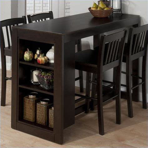 bar height dining table with storage woodworking projects plans