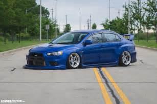 Slammed Mitsubishi Split Opinions Michael Henry S Bagged Evo X