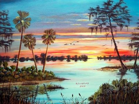 Relaxing Painting Videos by Florida Sunrise Sunset Paintings With Relaxing Music Youtube