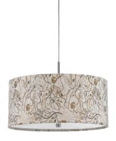 hanging chandelier light fixture earth colors fabric modern drum pendant light fixture