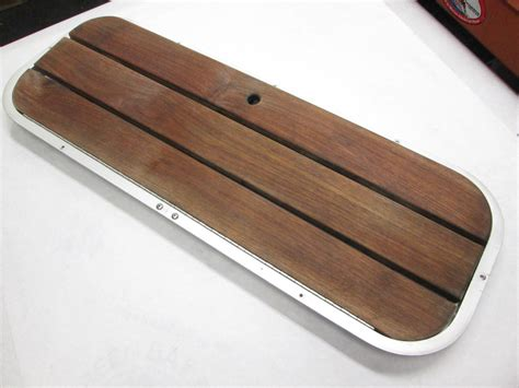 glass boat hatches boat floor deck ski hatch cover teak aluminum frame 44 3 8