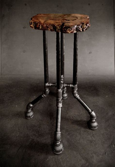 Iron Pipe Bar Stool by Custom Furniture Made From Reclaimed Wood And Fallen Trees