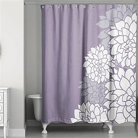 bed bath and beyond purple curtains buy imperial efflorescence shower curtain in purple from