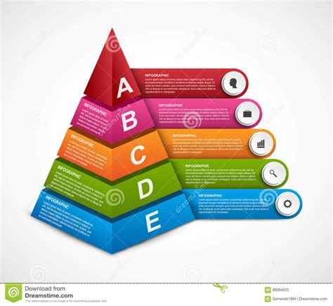 Abstract 3d Pyramid Options Infographics Template For Presentations Or Information Booklet Information Booklet Template