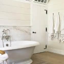 Horizontal Shiplap Walls Roll Top Tub Design Decor Photos Pictures Ideas