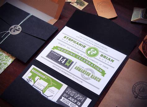 green and black wedding invitations brian s modern and vibrant wedding invitations
