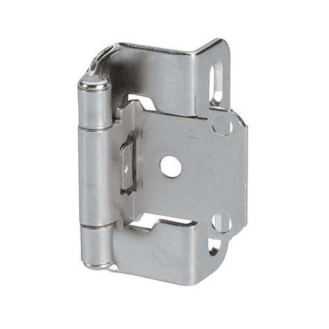 semi concealed cabinet hinge amerock partial wrap 1 2 quot overlay hinge nickel per pair