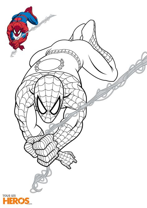 Coloriages Spiderman Gratuits Sur Le Blog De Tous Les H 233 Ros