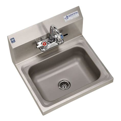 wall mount hand sink griffin products h30 series wall mount stainless steel