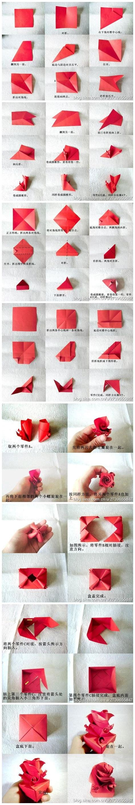 Paper Craft Tutorial - crafts valentines and origami paper on