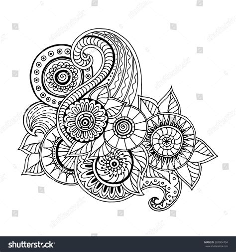 tribal pattern doodles ethnic floral zentangle doodle background pattern stock
