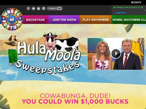 Wheel Of Fortune Sweepstakes 2014 - wheel of fortune hula moola sweepstakes sweepstakes fanatics