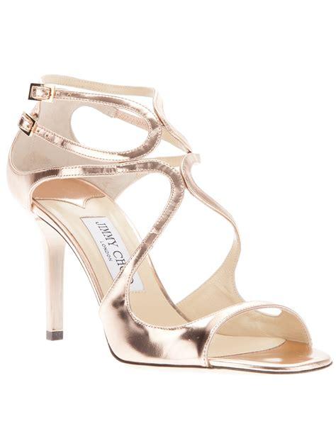 jimmy choo gold sandals jimmy choo ivette sandal in gold lyst