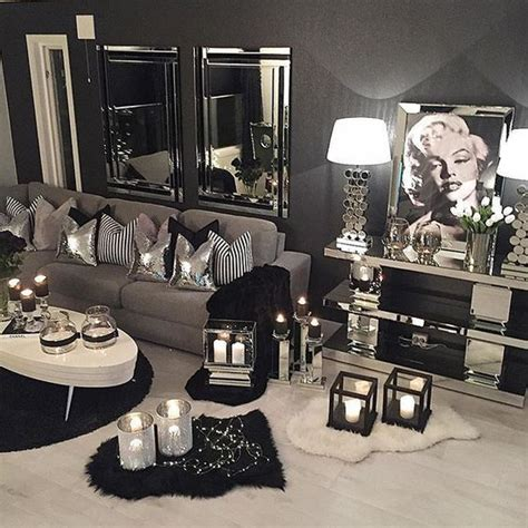 elegant silver living room furniture silver color fabric way too much candles but i love everything else