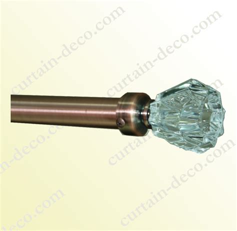 crystal curtain rod finials crystal curtain pole curtain design