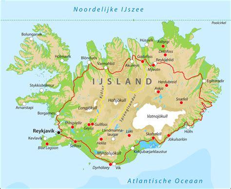 landkaart ijslandinfonl