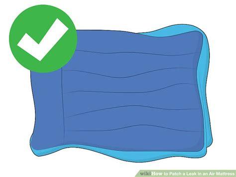 ways  patch  leak   air mattress wikihow