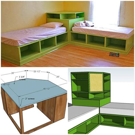 how to make a twin bed how to make diy twin corner bed with storage step by step