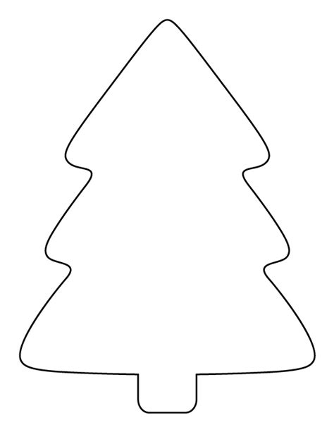 printable templates of christmas trees printable simple christmas tree pattern use the pattern