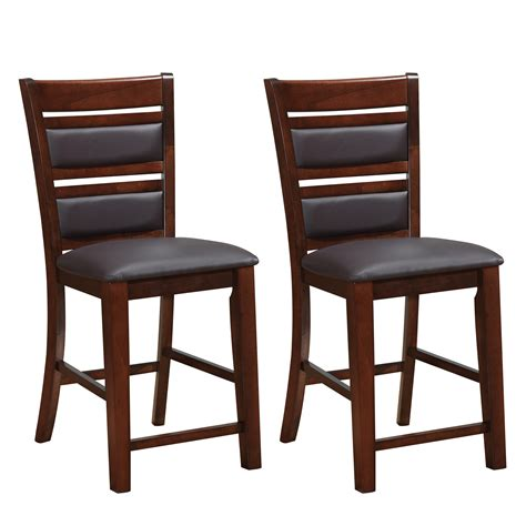 counter height dining set with leather chairs corliving chocolate brown bonded leather counter height