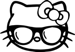 hello kitty nerd glasses coloring pages hello kitty geek glasses