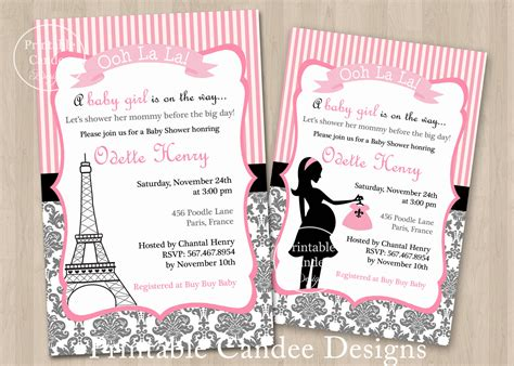 French baby shower invitation template infoinvitation co