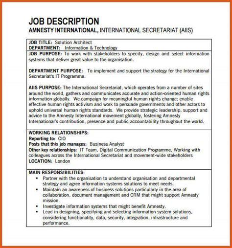 proper layout of job description job description format general resumes
