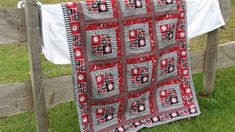 Alabama Quilt Pattern by Baby Quilt In Of Alabama Roll Tide