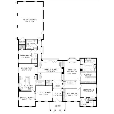 3600 sq ft house plans classical style house plan 4 beds 3 baths 3600 sq ft plan 137 238