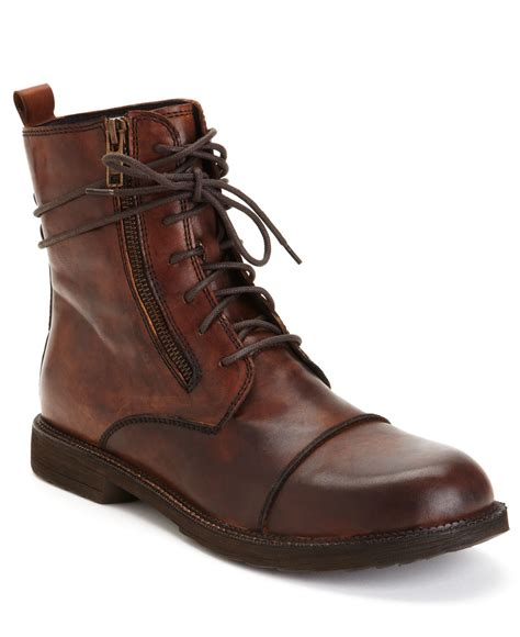 bedstu mens boots bed stu bed stu patriot boots in black for teak lyst