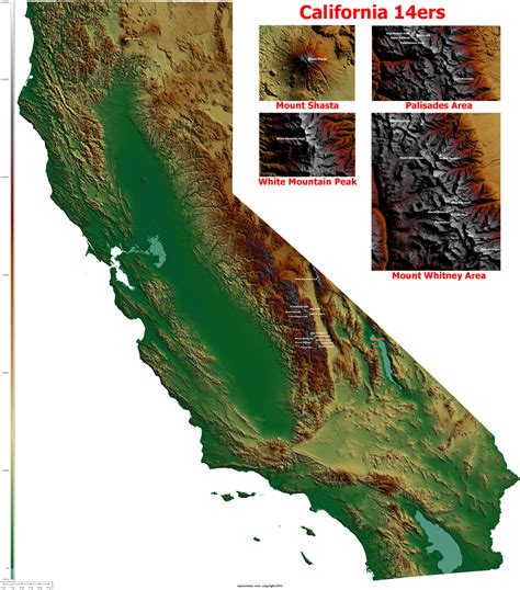 topo map of california what state would last the against the other 49