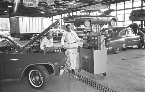 Closest Petrol Garage by 1960s Chevrolet Service Department Classic Cars Today
