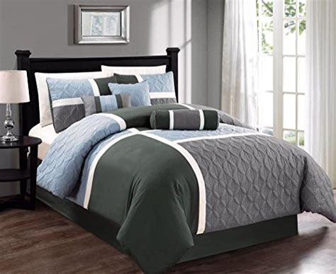 gray california king comforter chezmoi collection 7 piece quilted patchwork comforter set