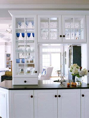 Kitchen Cabinets With Glass Doors On Both Sides by Glass Kitchen Cabinets See Through Here S Another View