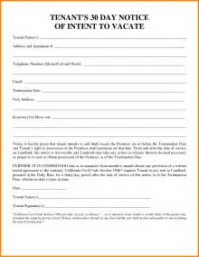 renters 30 day notice template doc 600600 sle 30 day notice to vacate apartment