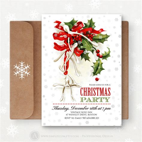 christmas printable invites editable christmas party by