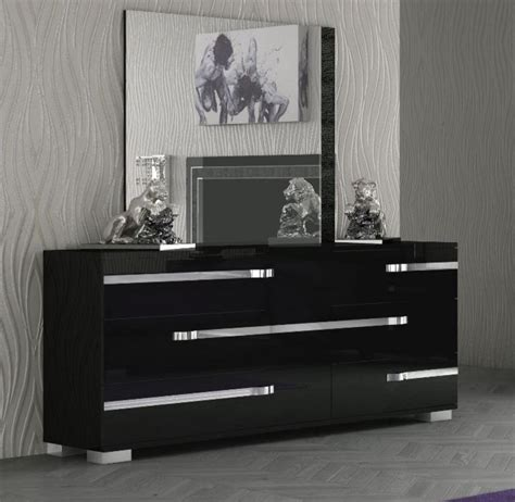 black chest of drawers with mirror fame 6 drawer modern chest of drawers in black high gloss