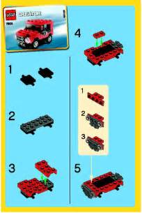 building creator lego jeep instructions 7803 creator