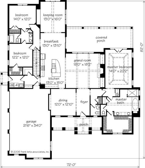 southern living floor plans magnolia springs frank betz associates inc