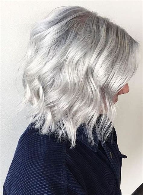 hairstyle ideas for grey hair get gorgeous silver gray hair color ideas for short
