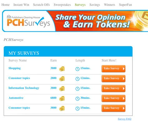 surveys with rewards - Pch Online Surveys