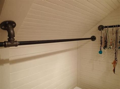 Closet Hanging Rod by Hanging Closet Rod From Sloped Ceiling Closet Ideas