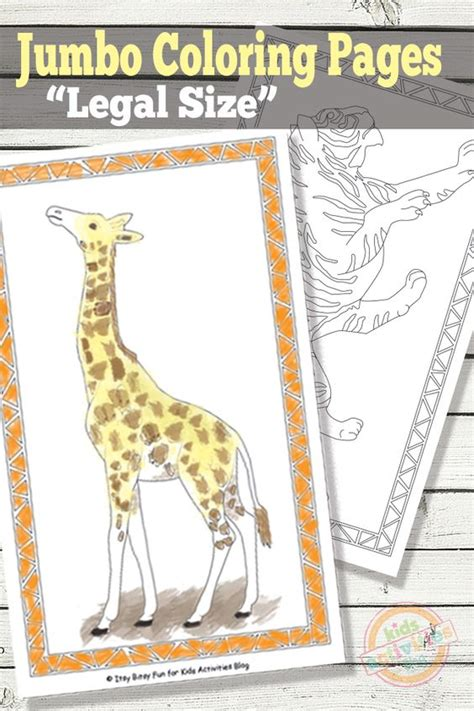 jumbo coloring pages free kids printables coloring