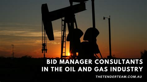 bid manager bid manager consultants in the and gas industry the