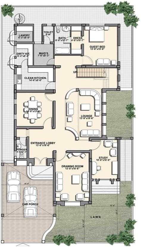 1 kanal house plan i kanal house plan