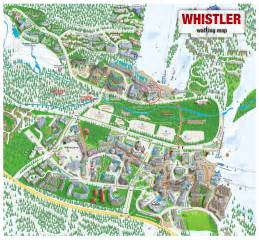 whistler map whistler bc canada mappery