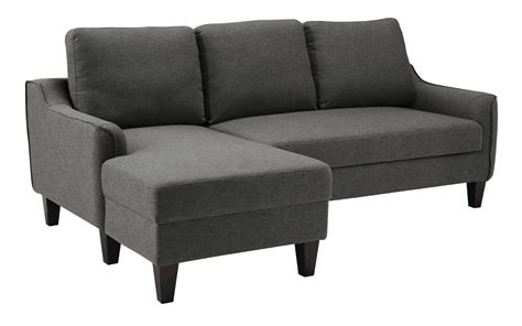 jarreau gray sofa chaise sleeper  delivery clearance sale marjen  chicago chicago