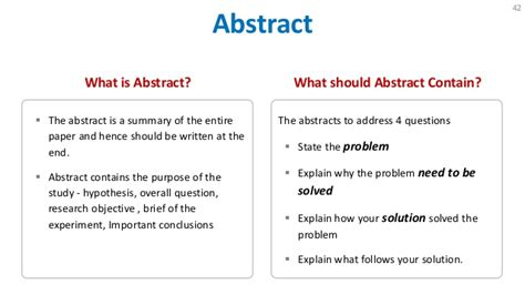 what is a research paper abstract how to write research paper