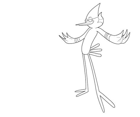 mordecai and rigby coloring pages mordecai action avondale style