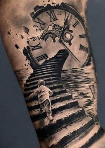 tatuaggi con simboli del tempo che passa lei trendy